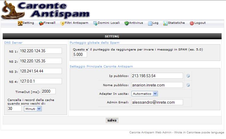 antispam gratis italiano